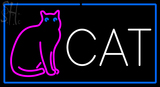 Custom Cat With Logo Neon Sign 1