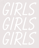Custom Girls Girls Girls Girls White LED Neon Sign 2