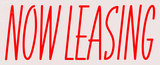 Custom Now Leasing Neon Flex Sign 6