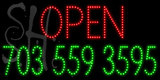 Custom Open Phone Number Led Sign 2