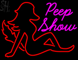 Custom Peep Show With Girl LED Neon Sign 1