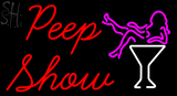 Custom Peep Show With Girl Neon Sign 2