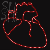 Custom Realistic Heart Shaped Led Sign 1