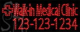 Custom Rick Virk Walk In Medical Clinic 123 123 1234 Led Sign 7