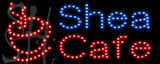 Custom Shea Cafe Led Sign 1