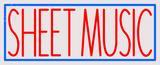 Custom Sheet Music LED Neon Sign 1