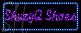 Custom Shuzyq Shoes With Blue Border Led Sign 1
