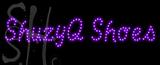 Custom Shuzyq Shoes With Blue Border Led Sign 2