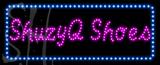 Custom Shuzyq Shoes With Blue Border Led Sign 3