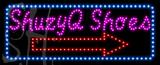 Custom Shuzyq Shoes With Blue Border Led Sign 4
