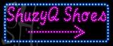 Custom Shuzyq Shoes With Blue Border Led Sign 6