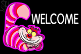 Custom Welcome With Smiley Cat Neon Sign 1