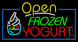 Open Frozen Yogurt Neon Sign