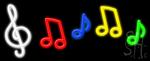 Music Logo Neon Sign