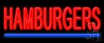 Hamburgers Neon Sign