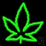 Leaf Logo Neon Sign