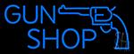 Blue Gun Shop LED Neon Sign