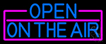 Blue Open On The Air With Pink Border LED Neon Sign