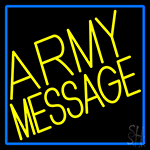 Custom Army With Blue Border LED Neon Sign