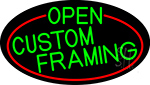 Green Open Custom Framing Oval With Red Border LED Neon Sign