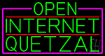 Green Open Internet Quetzal With Pink Border Neon Sign