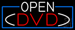 Open Dvd With Blue Border Neon Sign