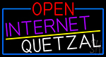 Open Internet Quetzal With Blue Border Neon Sign