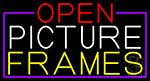 Open Picture Frames With Purple Border LED Neon Sign