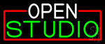 Open Studio With Red Border LED Neon Sign
