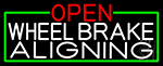 Open Wheel Brake Aligning With Green Border LED Neon Sign