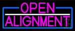 Pink Open Alignment With Blue Border LED Neon Sign