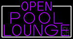 Purple Pool Lounge With White Border Neon Sign