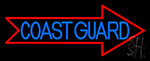 Red Coast Guard LED Neon Sign