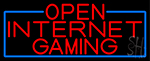 Red Open Internet Gaming With Blue Border Neon Sign