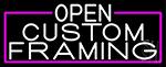 White Open Custom Framing With Pink Border LED Neon Sign