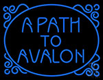 Blue A Path To Avalon Neon Sign