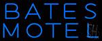 Blue Bates Motel Neon Sign