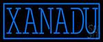 Blue Border Xanadu LED Neon Sign