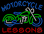 Motorcycle Lessons LED Neon Sign