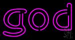 Pink God LED Neon Sign