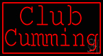 Red Border Club Cumming LED Neon Sign