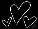 Hearts LED Neon Sign