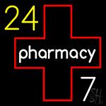 24 Pharmacy LED Neon Sign