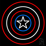 Captain America Shield LED Neon Sign