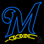 Milwaukee Brewers M Logo Neon Sign