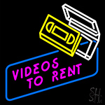 Videos To Rent LED Neon Sign