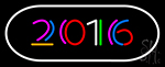 2016 With Border Neon Sign