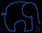Blue Elephant LED Neon Sign