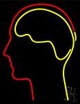 Human Head LED Neon Sign