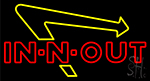 In N Out Burger Neon Sign